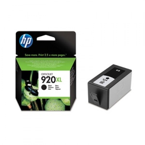 Hewlett-Packard 920 XL (CD975AE) Juoda, 1200 psl.